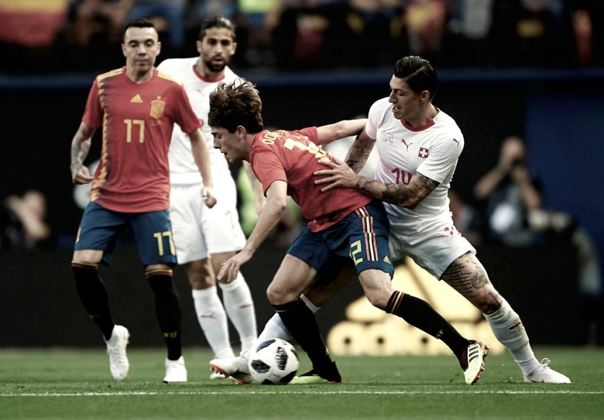 España no pasó del empate ante Suiza