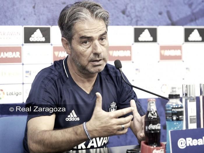 """Natxo González: """"Tengo ganas eilusión por sentarme en el banquillo de La Romareda"""""""