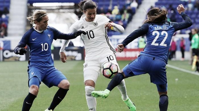 Desfalcada, seleção feminina da Alemanha enfrenta França na última partida em 2017