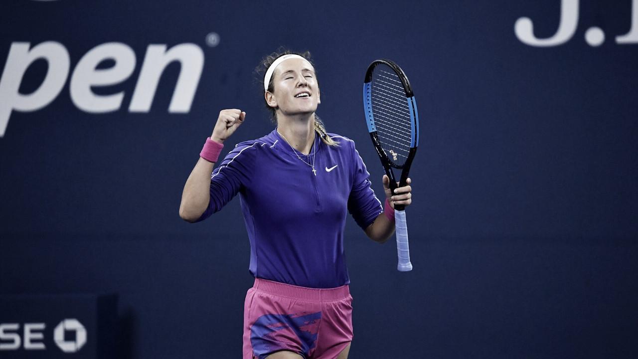 Azarenka vira contra Muchova e volta às quartas de um Slam após quatro anos