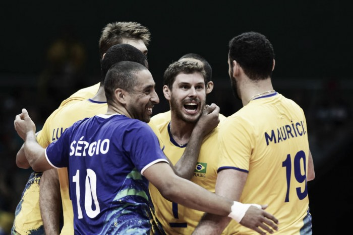 Brasil vence México de virada na estreia do vôlei masculino