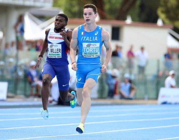 Atletica Europeo U20, Grosseto 2017 - Tortu oro nei 100
