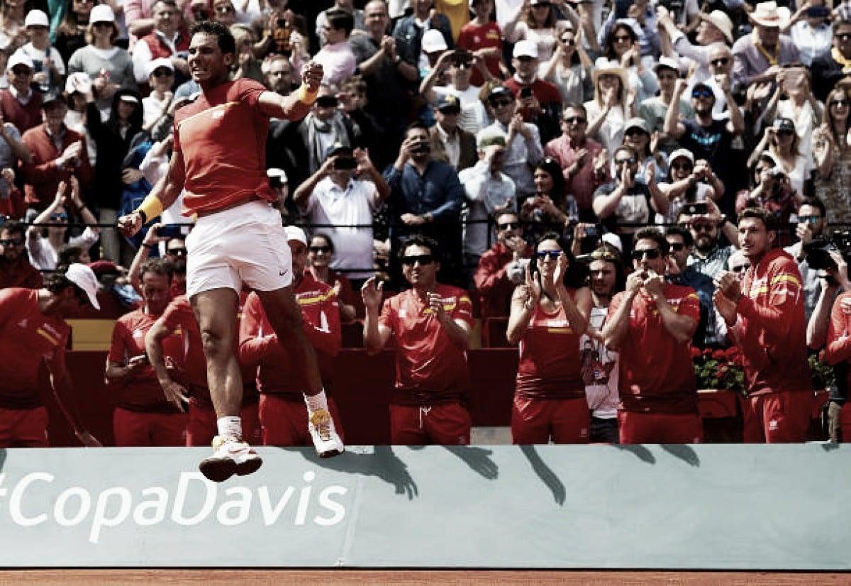 Nadal vence Zverev e iguala duelo contra Alemanha na Copa Davis