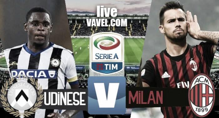 Risultato finale Udinese - Milan in Serie A 2016/17 (2-1): la mancata espulsione di De Paul regala la vittoria alll'Udinese