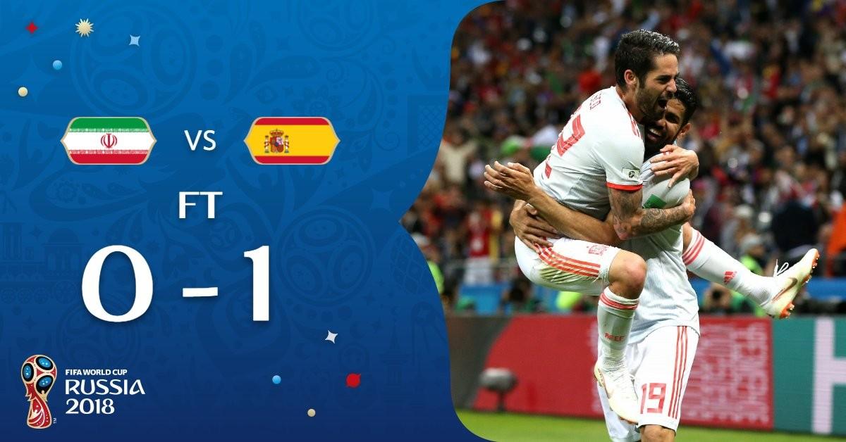 Russia 2018 - L'Iran fa soffrire la Spagna, ma non basta, vincono le Furie Rosse (1-0)
