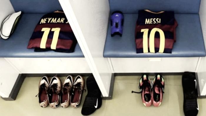 Messi despede-se de Neymar