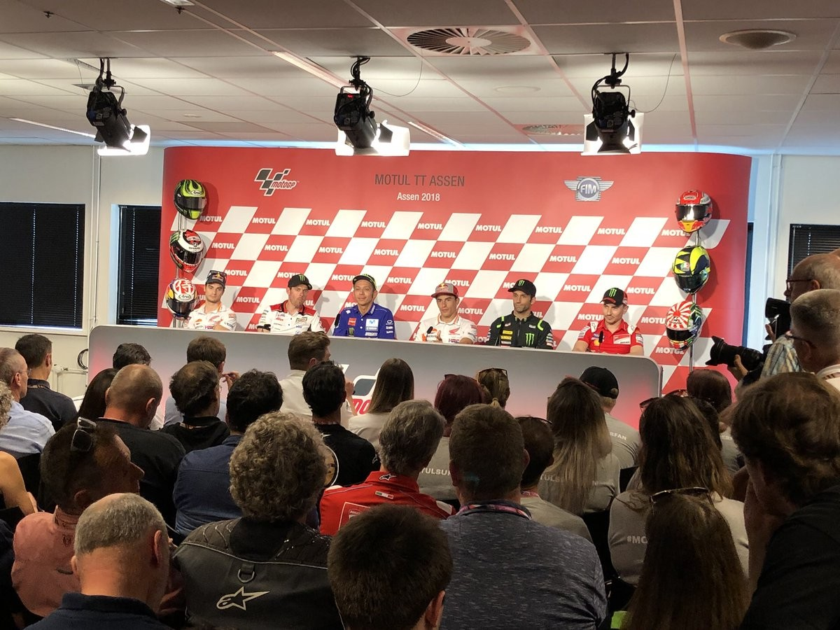 """MotoGp - Le parole dei piloti in sala stampa, Rossi: """"Importanti novità nei test"""""""