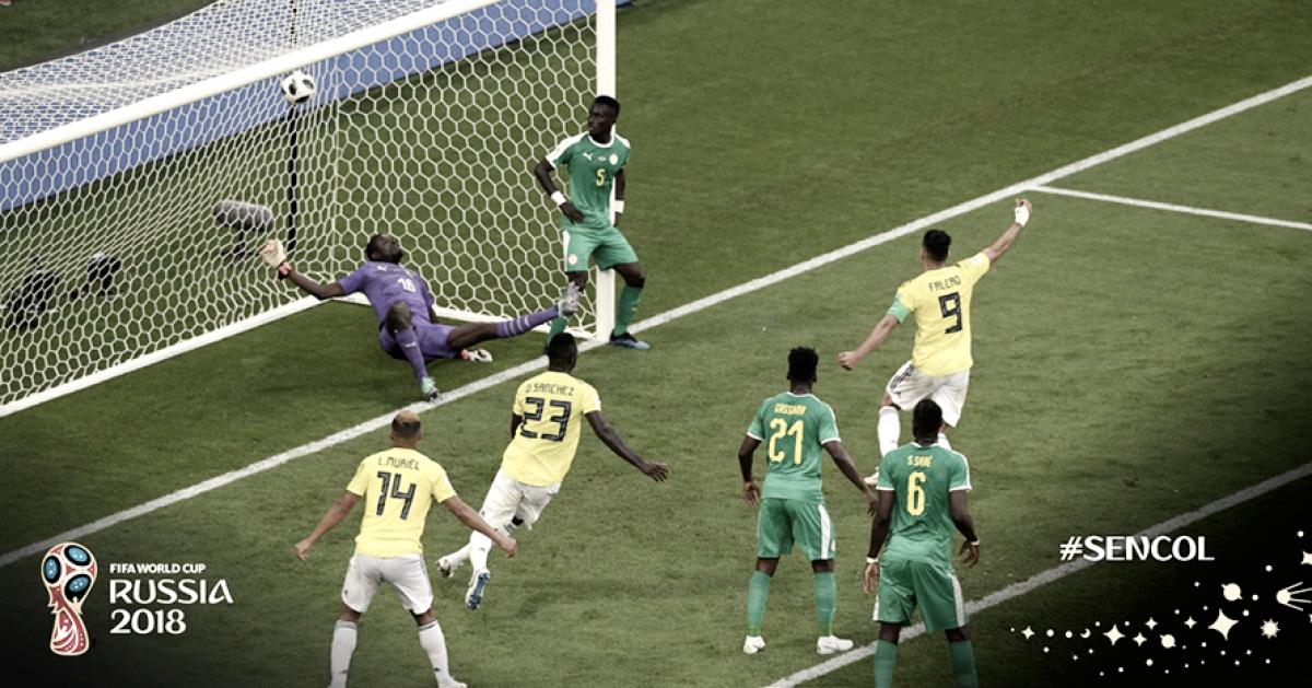 Mina marca, Colômbia elimina Senegal e segue como líder às oitavas da Copa do Mundo