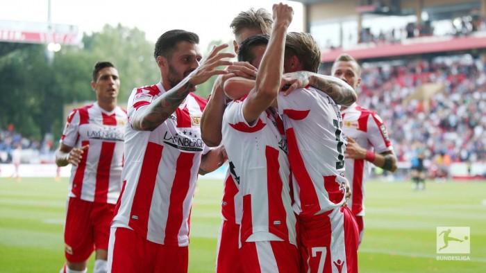 1. FC Union Berlin 4-3 Holstein Kiel:Steven Skrzybski double settles genuine thriller
