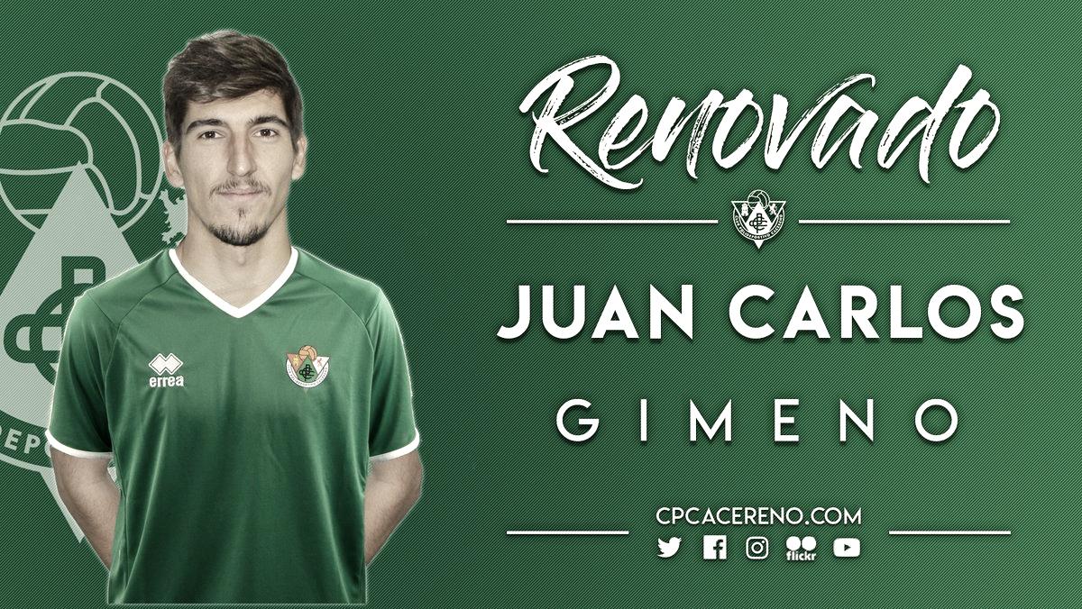 Juan Carlos Gimeno, quinta renovación del Cacereño