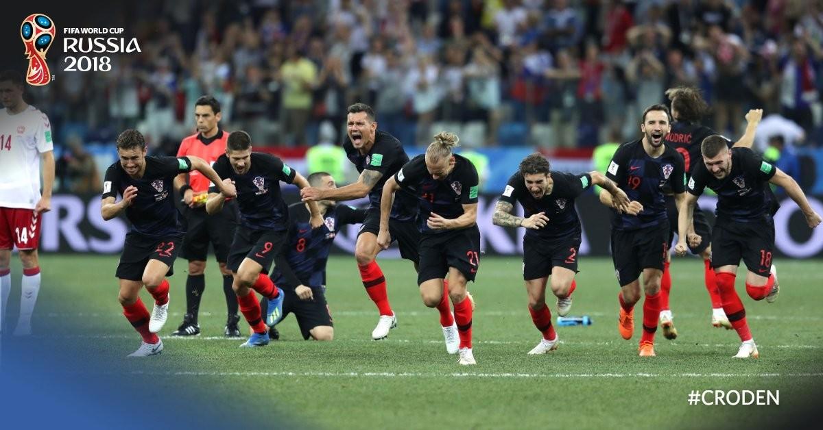 Russia 2018 - Match ball di Rakitic, la Croazia si impone ai calci di rigore 4-3 e vola ai quarti