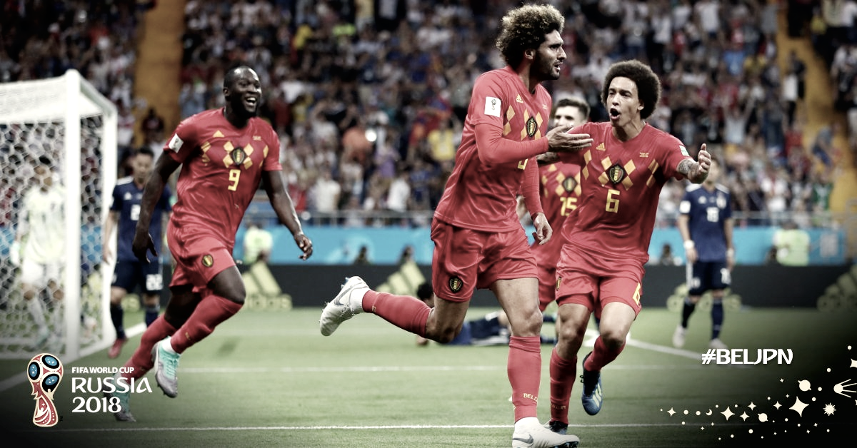 Bélgica marca no fim, vira contra Japão de forma dramática e pega Brasil nas quartas