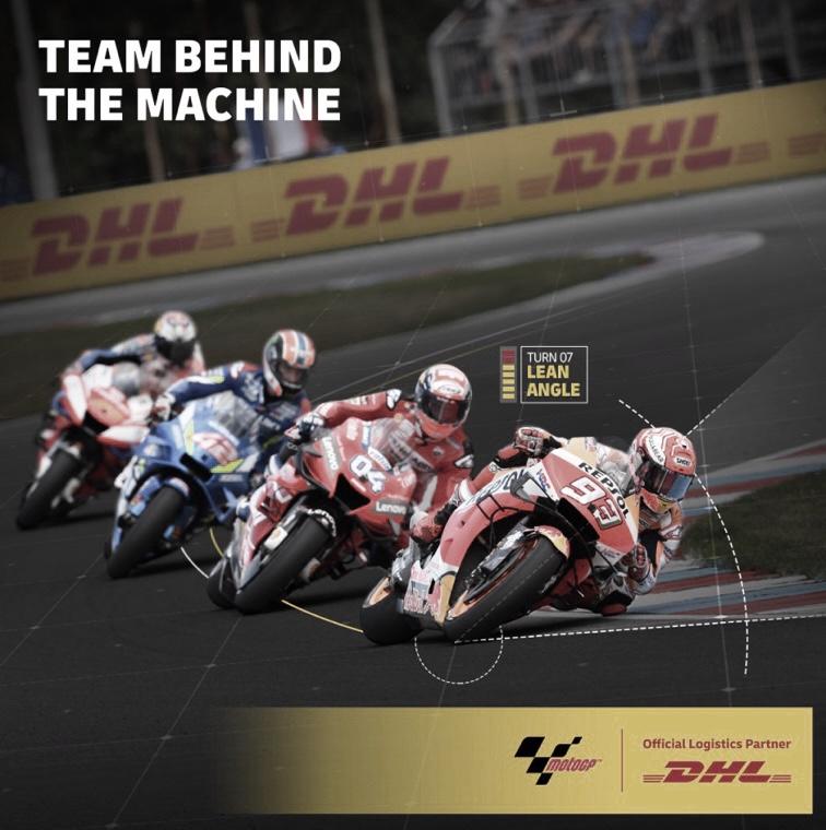 Equipo detrás de la máquina, el concurso de DHL y MotoGP