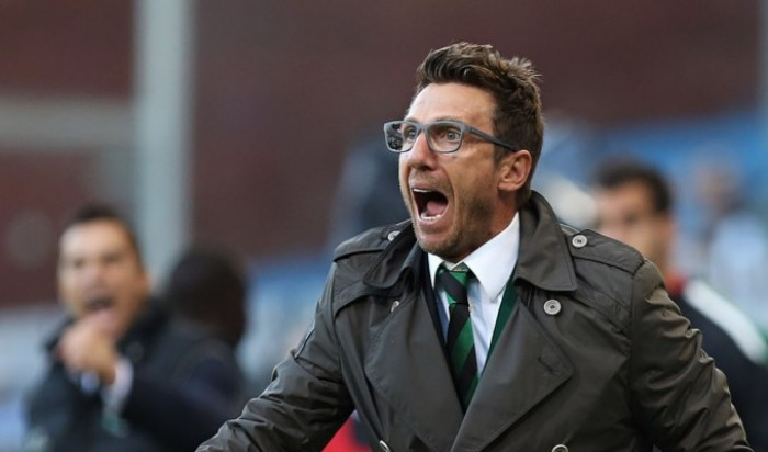 """Sassuolo, Di Francesco recrimina: """"Viene meno una grande prestazione"""""""