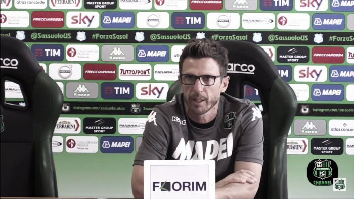 """Sassuolo, Di Francesco: """"Rientra Politano, con l'Atalanta vogliamo tornare a vincere"""""""