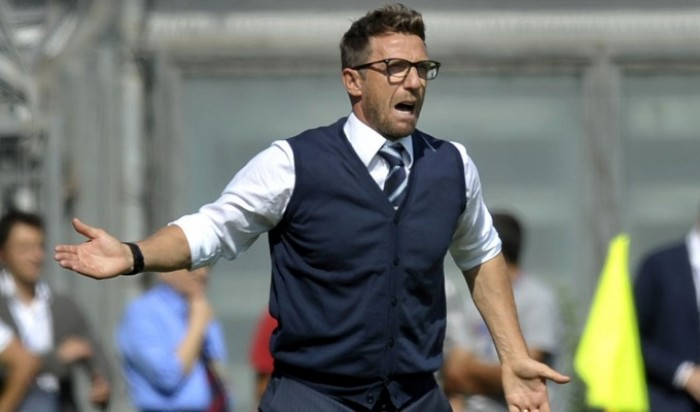 """Di Francesco carica i suoi: """"Domani un Sassuolo voglioso. Non siamo in crisi, sono contento e soddisfatto"""""""
