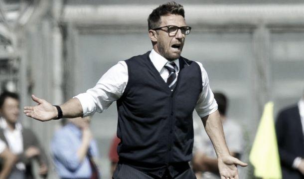"""Di Francesco: """"Allo Stadium a testa alta, voglio una grande partita"""""""