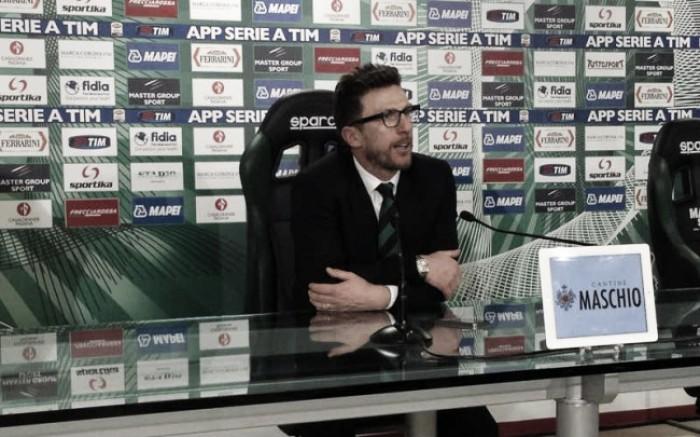 """Sassuolo, Di Francesco: """"Ho rinnovato il contratto perchè credo in questa società"""""""