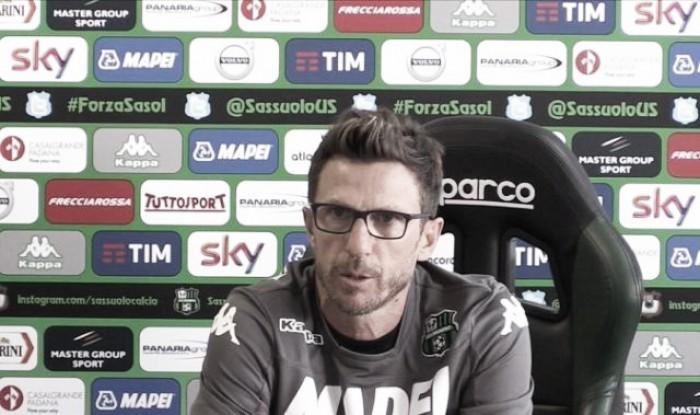 """Sassuolo, Di Francesco: """"L'Udinese ha qualità importanti, soprattutto a livello fisico"""""""