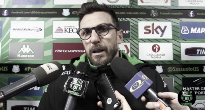 """Sassuolo, Di Francesco: """"Devo valutare Acerbi, a Firenze con ottimismo"""""""