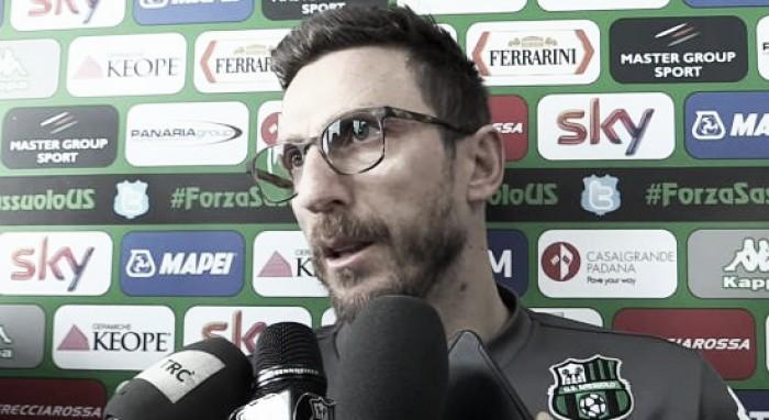 """Sassuolo, la cautela di Di Francesco: """"Con il Crotone è uno scontro per la salvezza"""""""