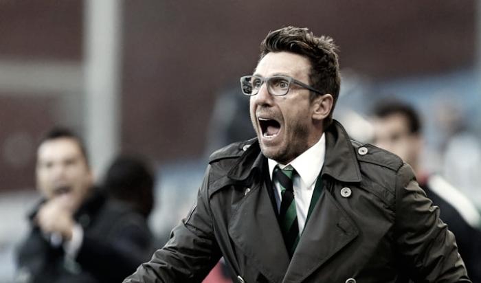 """Sassuolo, parla Di Francesco: """"Contento della prestazione dei miei ragazzi, questa squadra può impensierire chiunque"""""""