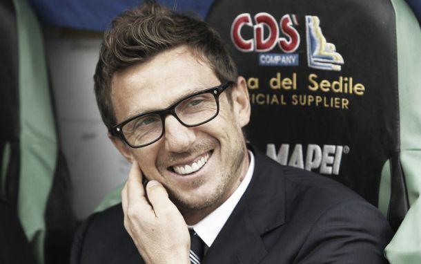 """Sassuolo vincente, Di Francesco raggiante: """"Vederci lassù è gratificante"""""""