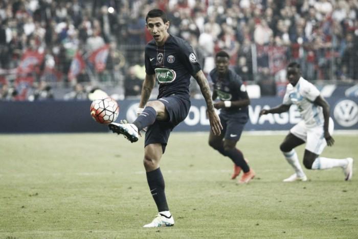 """Di María exalta título do PSG diante do rival Marseille: """"Foi uma grande conquista"""""""