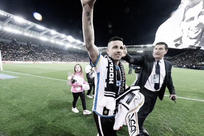 """Di Natale revela emoção após último jogo como profissional: """"Chorei como um bebê"""""""