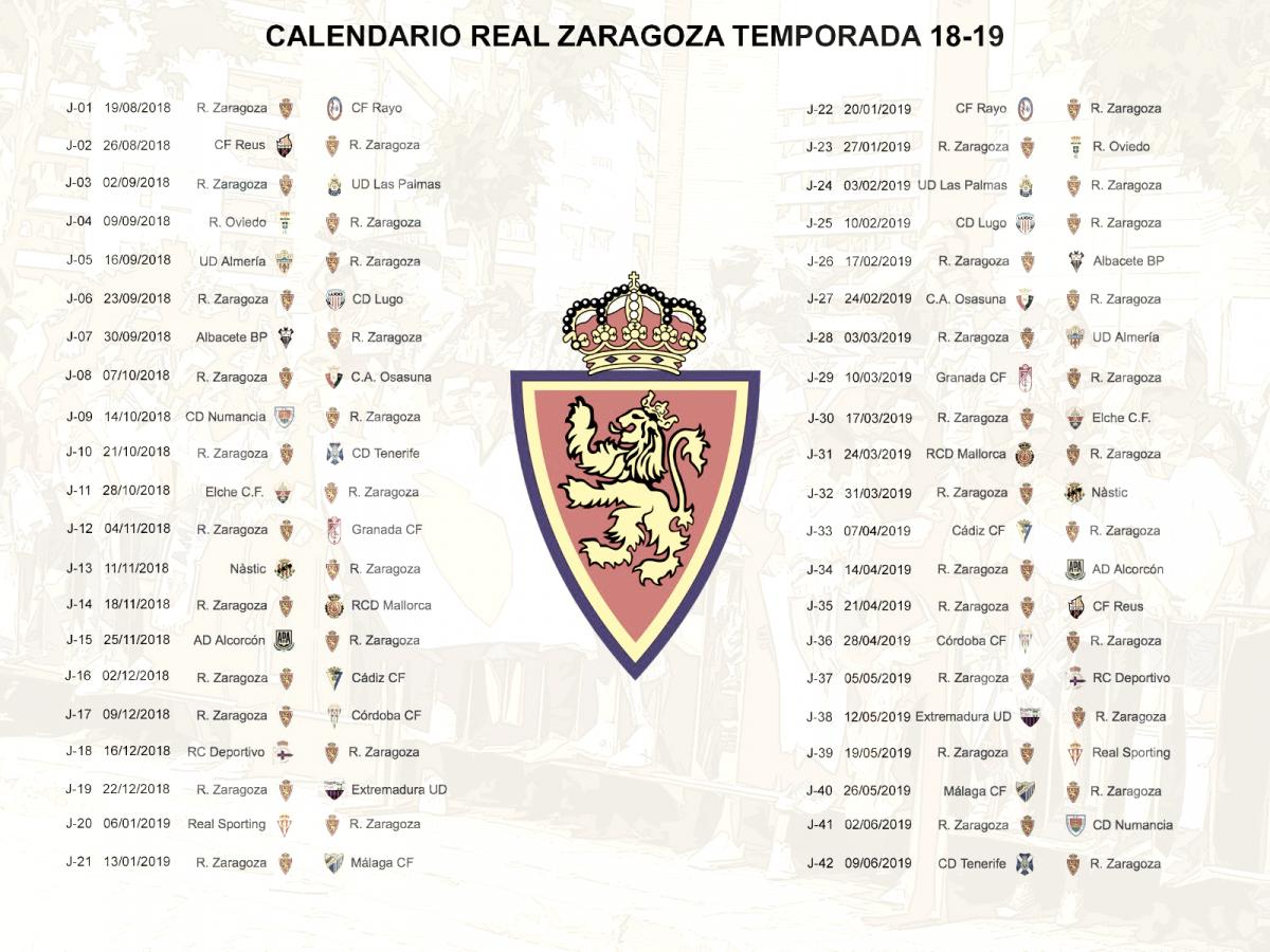 Conoce la hoja de ruta del Real Zaragoza hacia Primera