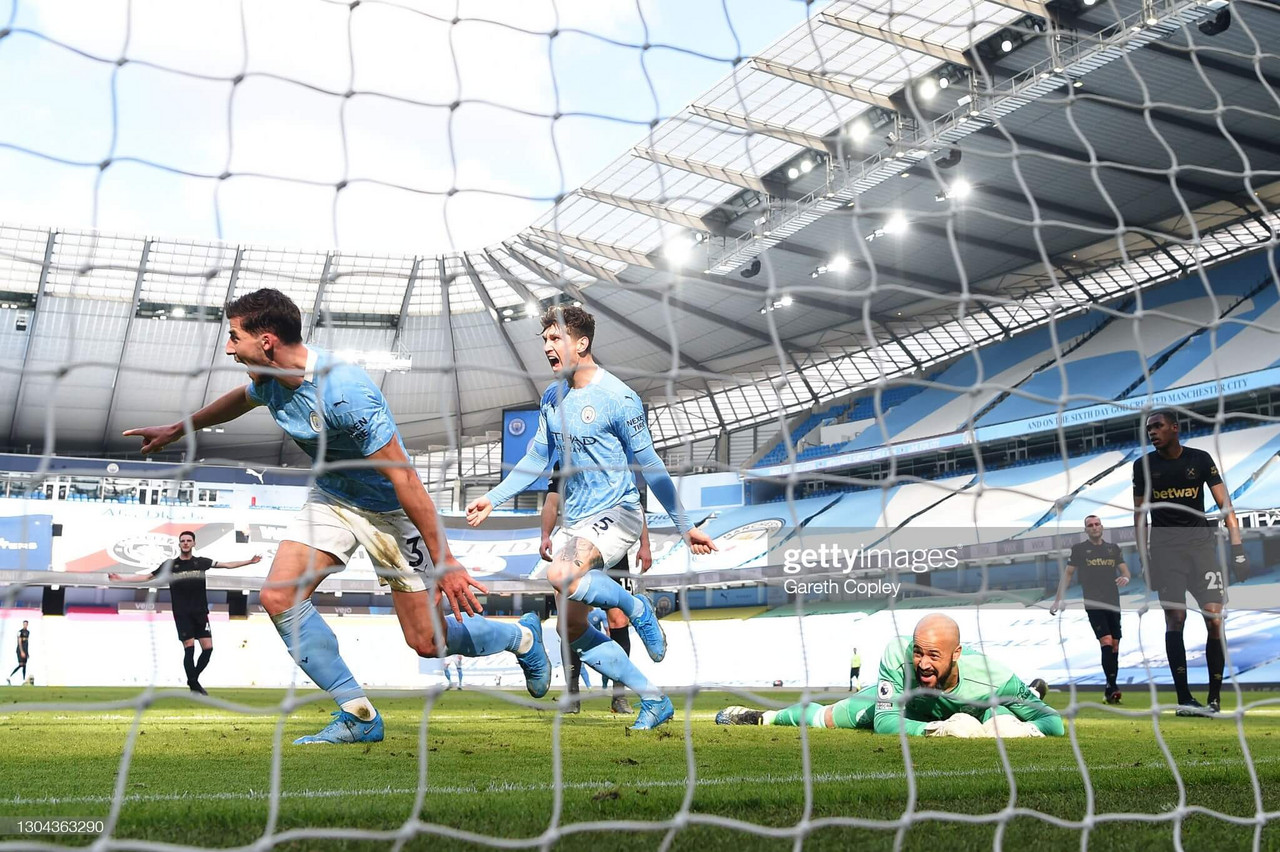 Manchester City 2-1 West Ham United - 20/20 as City's title rampage continues