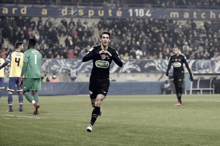Com hat-trick de Di María, PSG vence Sochauxe avança às quartas de final da Copa da França
