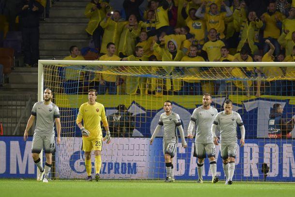El BATE Borisov recibió a la Roma y se llevó los tres puntos