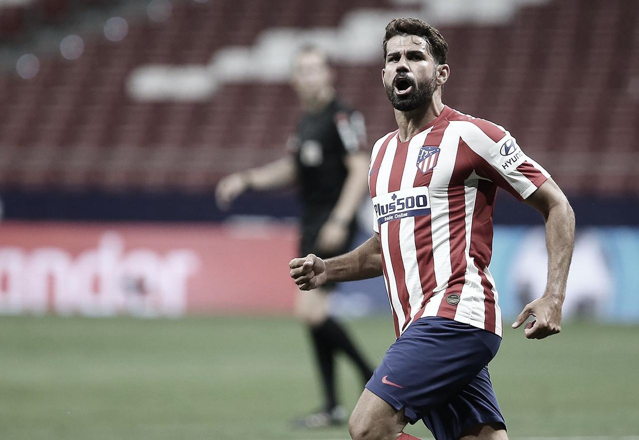 """Diego Costa exalta boa fase do Atlético de Madrid na temporada: """"Felizes e queremos continuar assim"""""""
