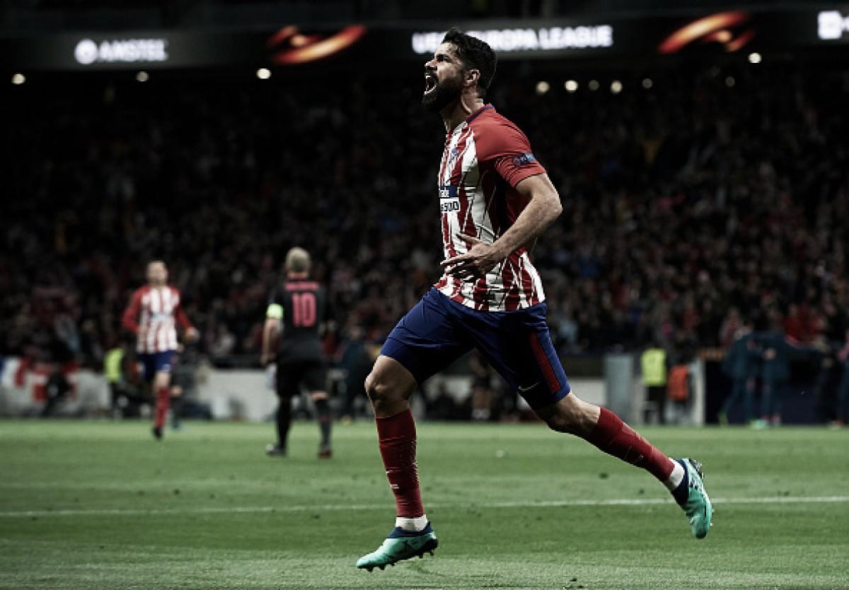 """Herói da classificação, Diego Costa celebra Atlético na decisão da UEL: """"Somos grandes"""""""