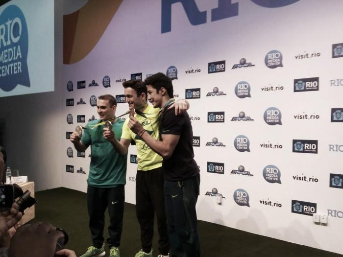 Diego Hypólito, Nory e Zanetti concordam que ginastica brasileira obteve bons resultados devido a investimentos