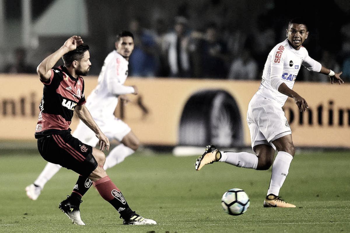 Santos recebe líder Flamengo tentando subir na tabela do Campeonato Brasileiro