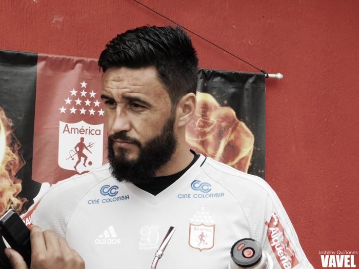 """Diego Herner: """"Solo pensamos en el partido ante Deportivo Cali"""""""