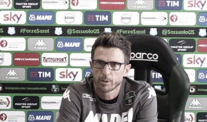 """Sassuolo, parla Di Francesco: """"Berardi può giocare dall'inizio"""""""