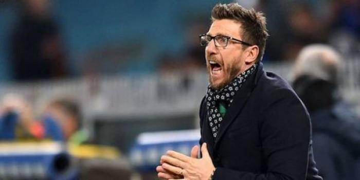 """Sassuolo, il rammarico di Di Francesco: """"Risultato bugiardo, onore a questi ragazzi"""""""