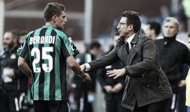 """Sassuolo imbattuto. Squinzi alza l'asticella, Di Francesco replica: """"Al presidente piace sognare"""""""