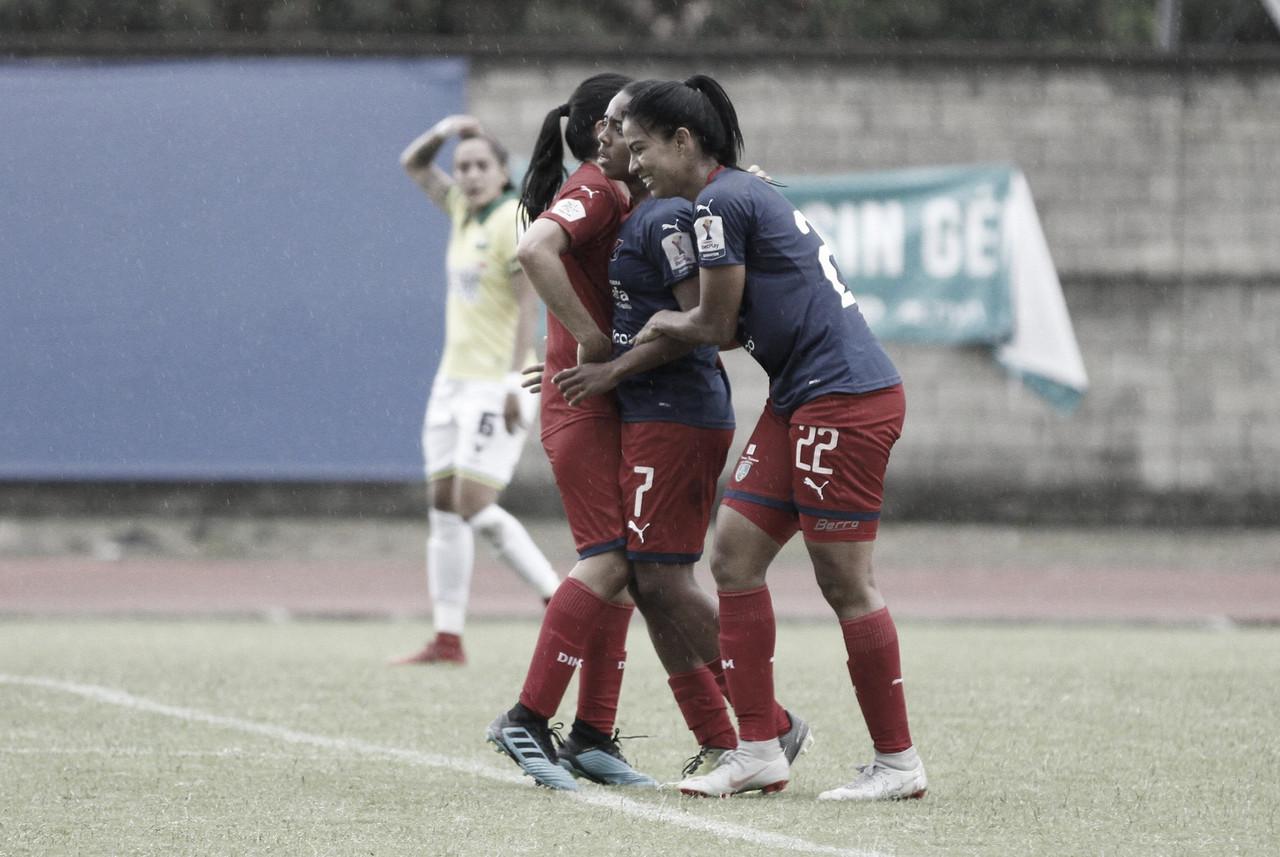 Medellín venció al Bucaramanga y se afianzó en el liderato del grupo A en la Liga Femenina