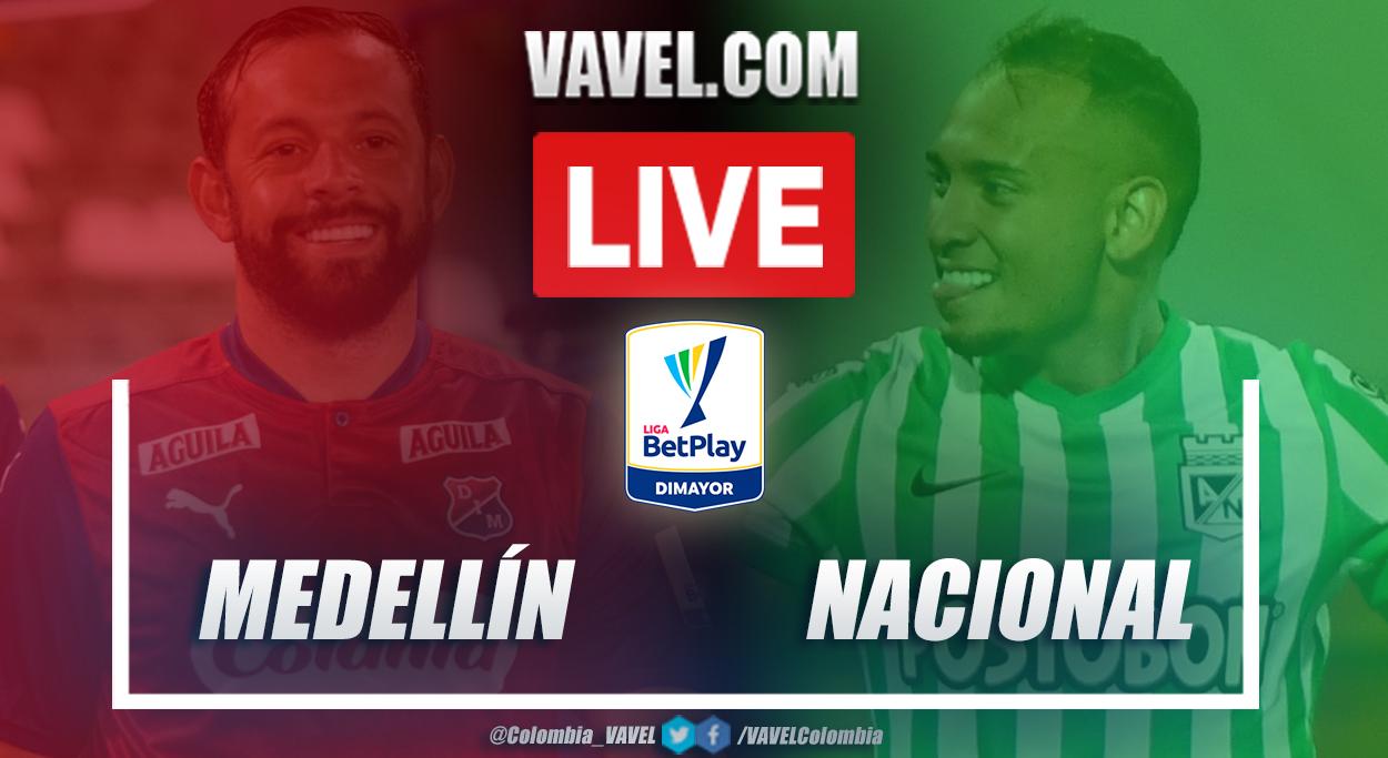 Resumen Medellín vs Nacional (0-0) en la fecha 15 por Liga BetPlay 2021-I