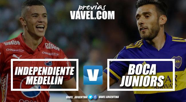 Independiente Medellín -Boca: Probables formaciones, horario y TV
