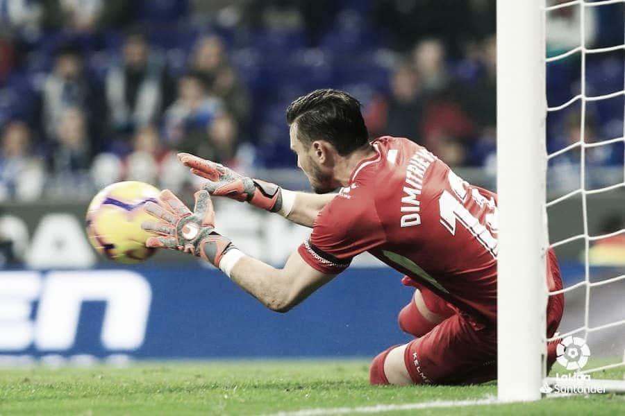 Stole Dimitrievski, 'MVP' del RCD Espanyol - Rayo Vallecano
