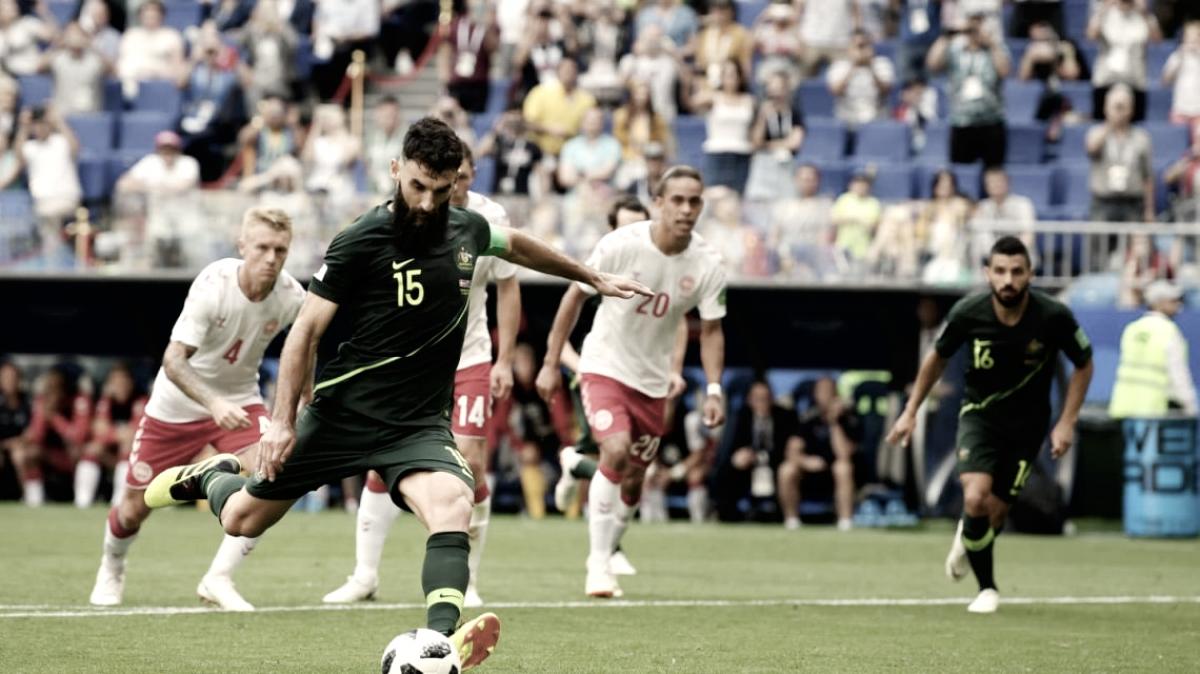 Dinamarca y Australia sumaron de a uno