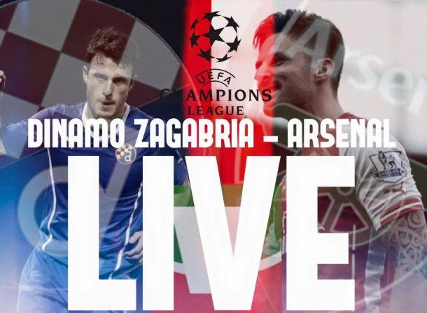 Live Dinamo Zagabria - Arsenal, risultato partita Champions League 2015/16  (2-1)
