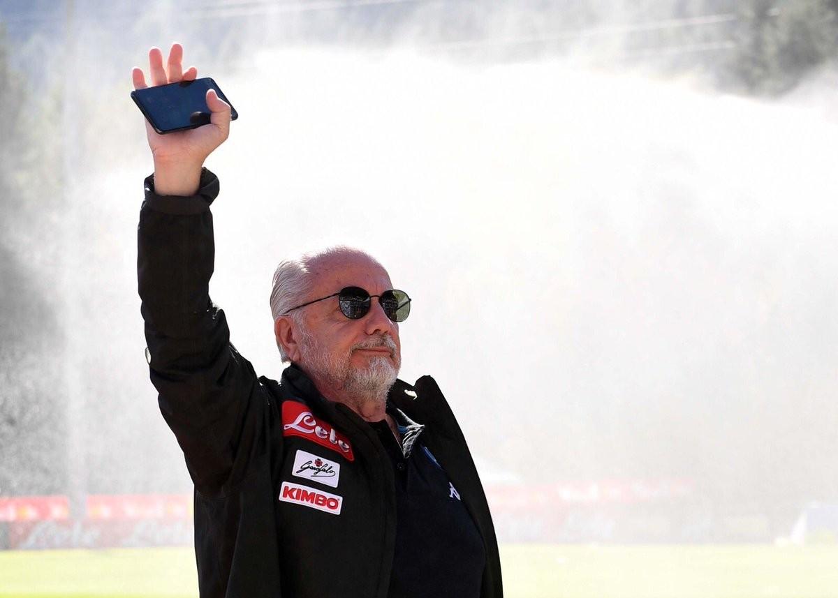 "Napoli - De Laurentiis: ""Con Mendes ho parlato di Ronaldo, ai Mondiali ho tifato Belgio"""