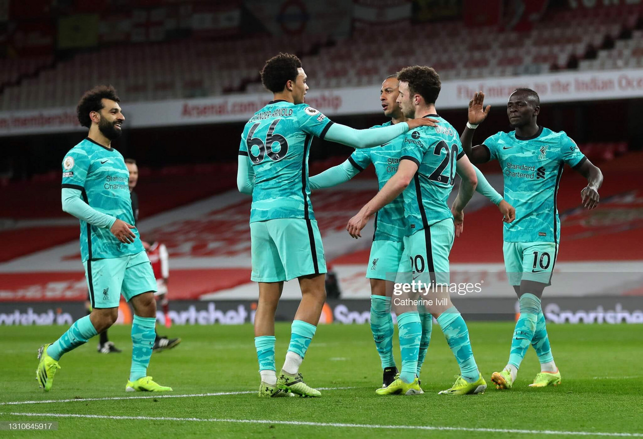 Arsenal 0-3 Liverpool: Jota and Salah sink Arsenal to boost top-four hopes