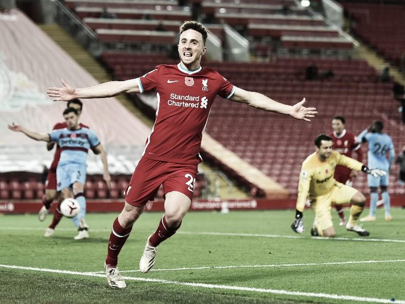 Diogo Jota volvió a marcar por tercer partido consecutivo | Foto: Liverpool